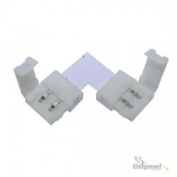 Conector Emenda Led 3528 5050 10mm L 2vias Sem Solda